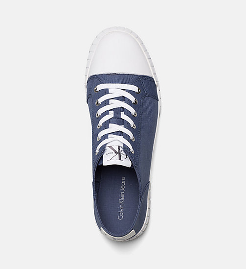 CALVIN KLEIN JEANS Nylon Sneakers - STEEL BLUE - CALVIN KLEIN JEANS SHOES & ACCESSORIES - detail image 1