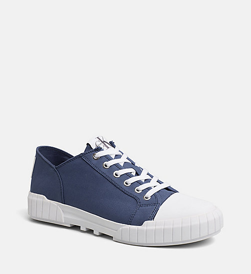 CALVIN KLEIN JEANS Nylon Sneakers - STEEL BLUE - CALVIN KLEIN JEANS SHOES & ACCESSORIES - main image