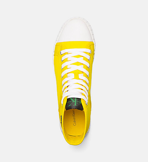 CALVIN KLEIN JEANS Nylon High-Top Sneakers - ACCENT YELLOW - CALVIN KLEIN JEANS TRAINERS - detail image 1