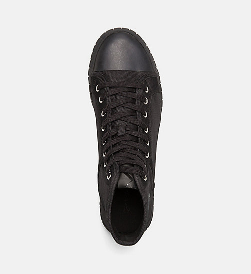 CALVIN KLEIN JEANS Nylon High-Top Sneakers - BLACK/BLACK - CALVIN KLEIN JEANS TRAINERS - detail image 1
