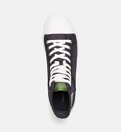CALVIN KLEIN JEANS Nylon High-Top Sneakers - INDIGO -  TRAINERS - detail image 1