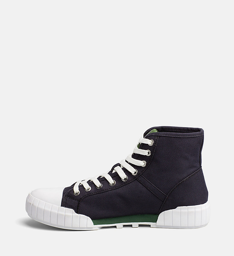 CALVIN KLEIN JEANS Nylon High-Top Sneakers - BLACK/BLACK - CALVIN KLEIN JEANS MEN - detail image 2