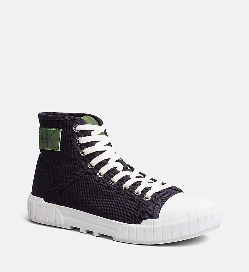 CALVIN KLEIN JEANS Nylon High-Top Sneakers - BLACK/BLACK - CALVIN KLEIN JEANS MEN - main image
