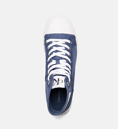 CALVIN KLEIN JEANS Nylon High-Top Sneakers - STEEL BLUE - CALVIN KLEIN JEANS SHOES & ACCESSORIES - detail image 1