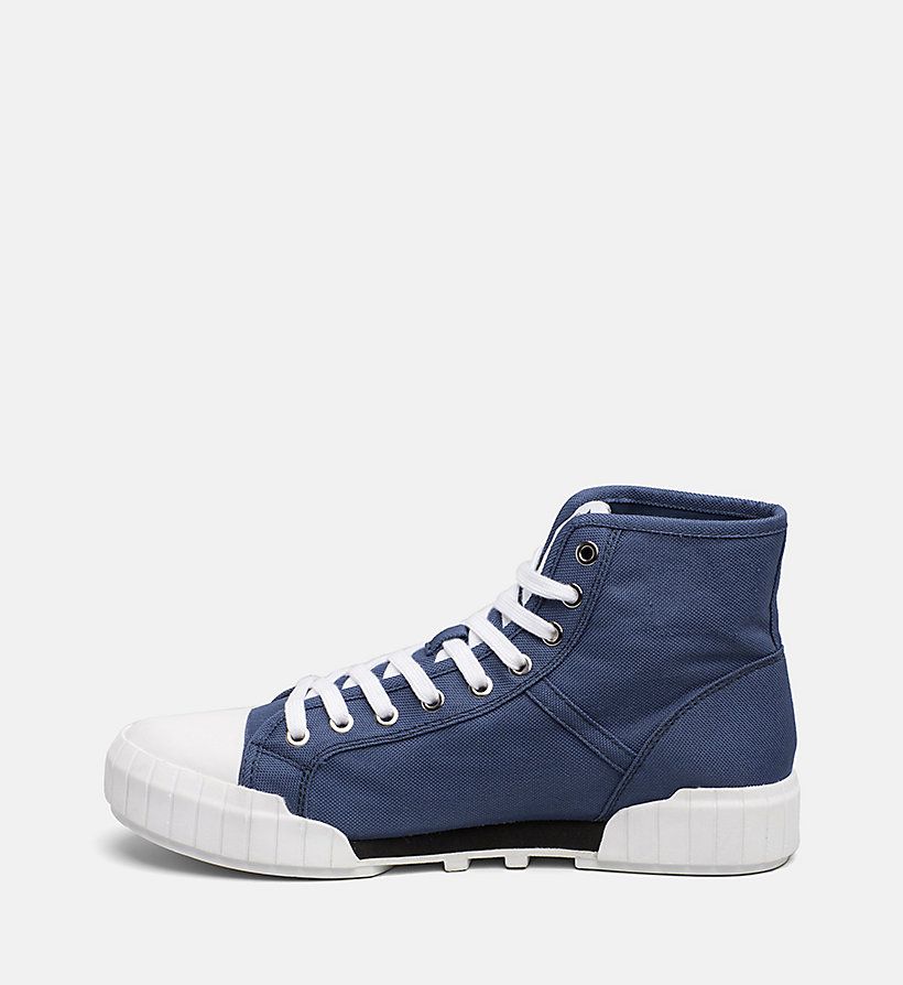 CALVIN KLEIN JEANS Nylon High-Top Sneakers - ACCENT YELLOW - CALVIN KLEIN JEANS MEN - detail image 2