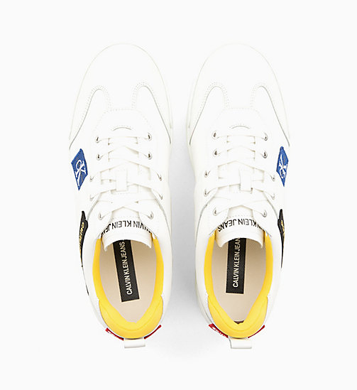 CALVIN KLEIN JEANS Leather Trainers - BRIGHT WHITE - CALVIN KLEIN JEANS TRAINERS - detail image 1