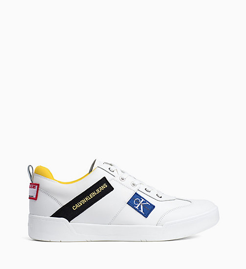 CALVIN KLEIN JEANS Leather Trainers - BRIGHT WHITE - CALVIN KLEIN JEANS TRAINERS - main image