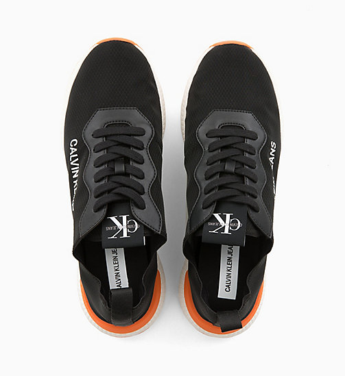 CALVIN KLEIN JEANS Nylon Trainers - BLACK - CALVIN KLEIN JEANS TRAINERS - detail image 1