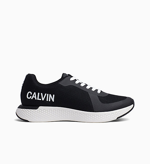 CALVIN KLEIN JEANS Mesh Trainers - BLACK - CALVIN KLEIN JEANS TRAINERS - main image