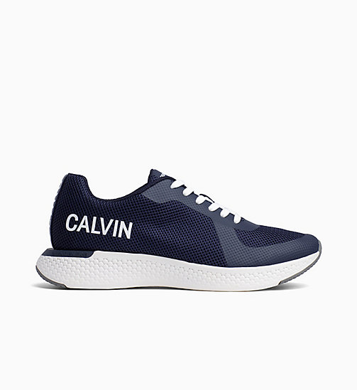 CALVIN KLEIN JEANS Mesh Trainers - NAVY - CALVIN KLEIN JEANS TRAINERS - main image