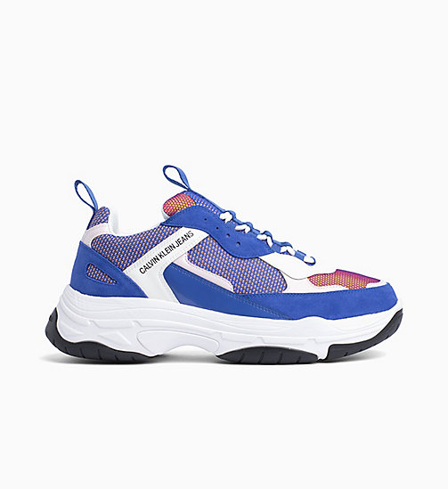 CALVIN KLEIN JEANS Leather Trainers - NAUTICAL BLUE/ROSE/WHITE - CALVIN KLEIN JEANS TRAINERS - main image