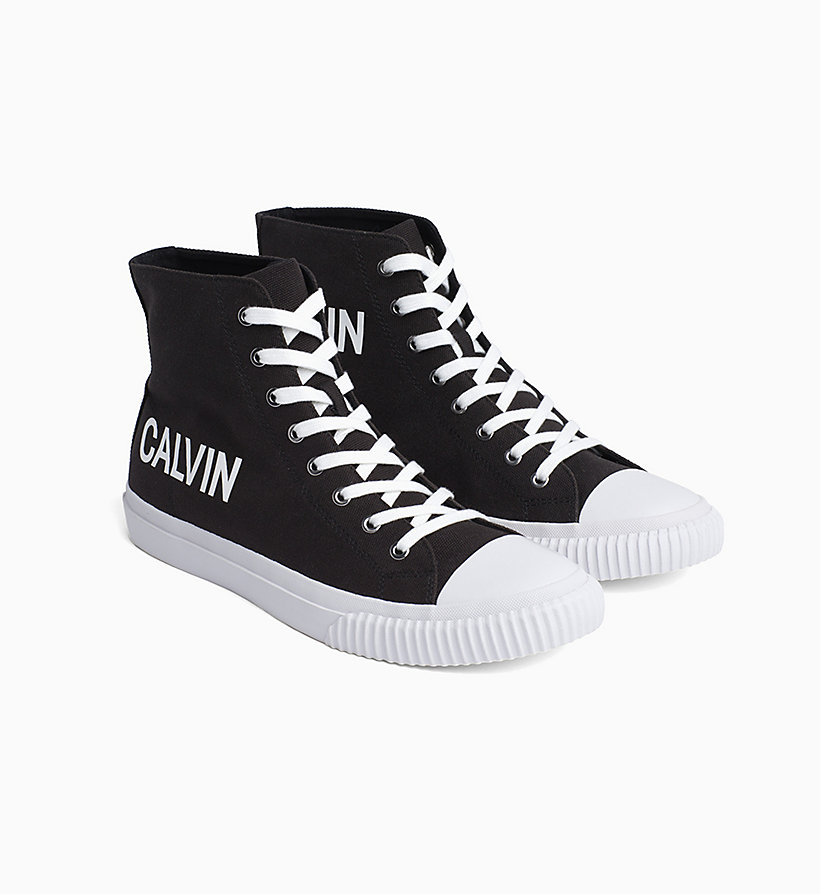 CALVIN KLEIN JEANS High Top Sneakers aus Canvas - BRIGHT WHITE - CALVIN KLEIN JEANS HERREN - main image 1