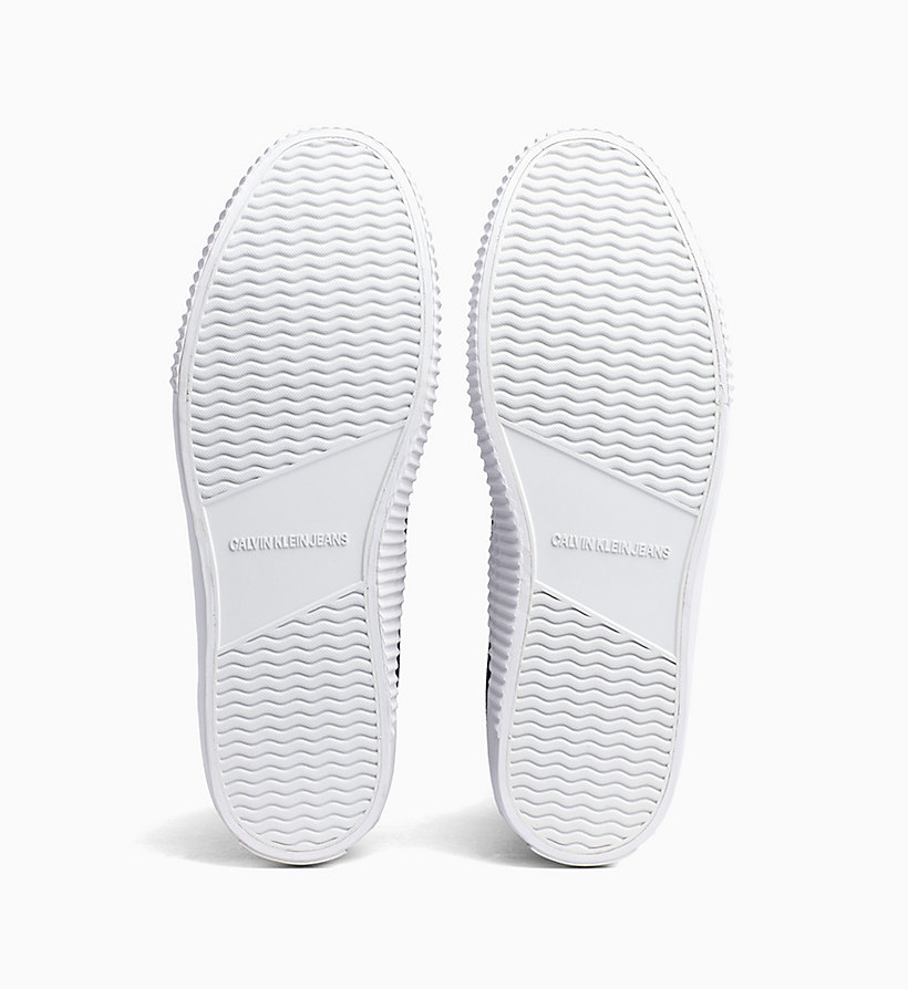 CALVIN KLEIN JEANS High Top Sneakers aus Canvas - BRIGHT WHITE - CALVIN KLEIN JEANS HERREN - main image 4