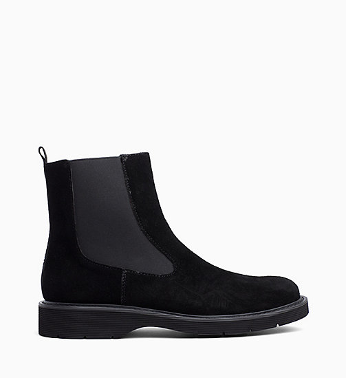 CALVIN KLEIN JEANS Suede Ankle Boots - BLACK - CALVIN KLEIN JEANS FLAT SHOES - main image