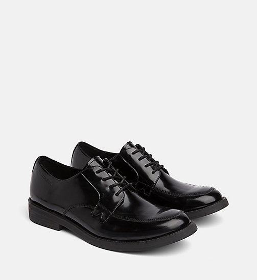 CALVIN KLEIN JEANS Leather Lace-Up Shoes - BLACK - CALVIN KLEIN JEANS FLAT SHOES - detail image 1