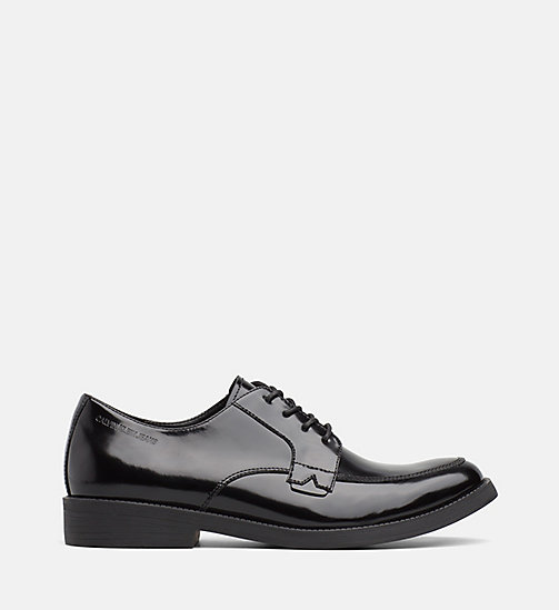 CALVIN KLEIN JEANS Leather Lace-Up Shoes - BLACK - CALVIN KLEIN JEANS FLAT SHOES - main image
