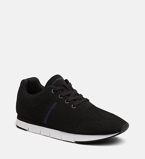 CALVIN KLEIN JEANS Mesh sneakers - BLACK - CALVIN KLEIN JEANS SHOES & ACCESSORIES - main image