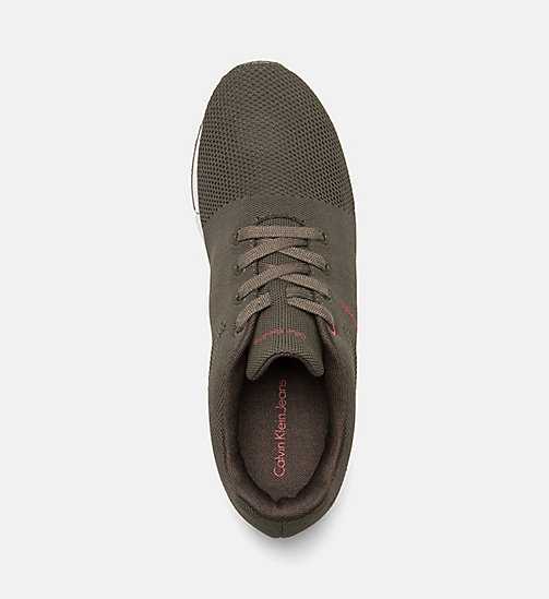 CALVIN KLEIN JEANS Mesh Sneakers - CARGO - CALVIN KLEIN JEANS SHOES & ACCESSORIES - detail image 1