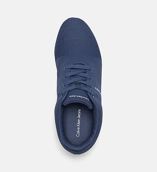 CALVIN KLEIN JEANS Mesh Sneakers - STEEL BLUE - CALVIN KLEIN JEANS TRAINERS - detail image 1