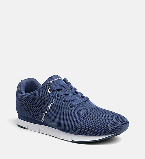 CALVIN KLEIN JEANS Mesh Sneakers - STEEL BLUE - CALVIN KLEIN JEANS TRAINERS - main image