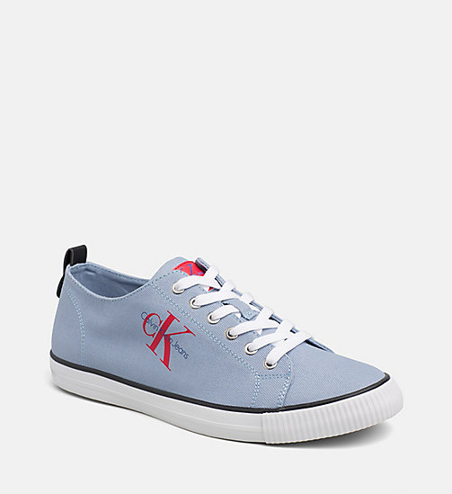 CALVIN KLEIN JEANS Denim Sneakers - LIGHT BLUE - CALVIN KLEIN JEANS LOGO SHOP - main image