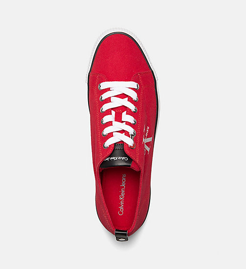 CALVIN KLEIN JEANS Denim Sneakers - RED - CALVIN KLEIN JEANS PACK YOUR BAG - detail image 1
