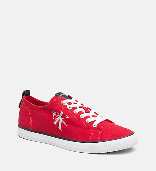 CALVIN KLEIN JEANS Denim Sneakers - RED - CALVIN KLEIN JEANS LOGO SHOP - main image