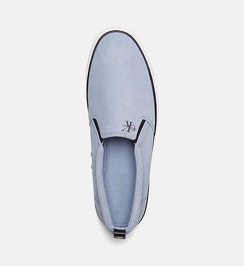CALVIN KLEIN JEANS Scarpe slip-on in denim - LIGHT BLUE - CALVIN KLEIN JEANS HEAT WAVE - dettaglio immagine 1