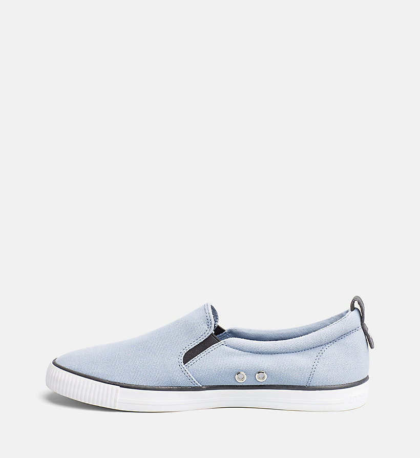 CALVIN KLEIN JEANS Denim Slip-On Shoes - RED - CALVIN KLEIN JEANS MEN - detail image 2