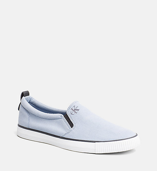 CALVIN KLEIN JEANS Denim Slip-On Shoes - LIGHT BLUE - CALVIN KLEIN JEANS HEAT WAVE - main image