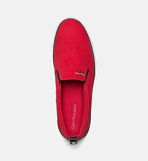 CALVIN KLEIN JEANS Denim Slip-On Shoes - RED - CALVIN KLEIN JEANS TRAINERS - detail image 1