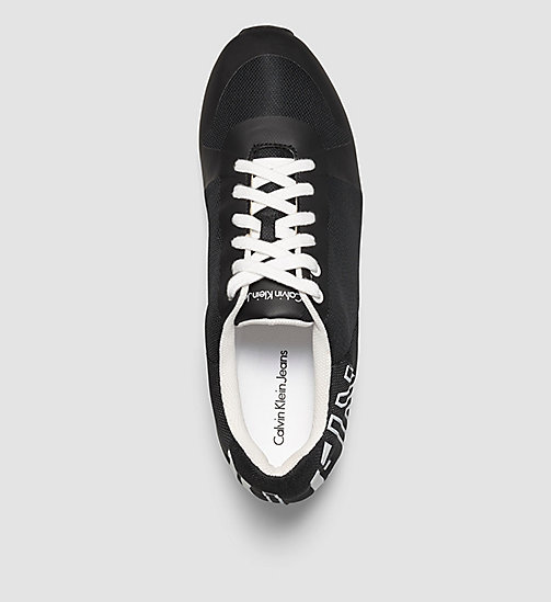 CALVIN KLEIN JEANS Mesh Sneakers - WHITE/BLACK/WHITE -  TRAINERS - detail image 1