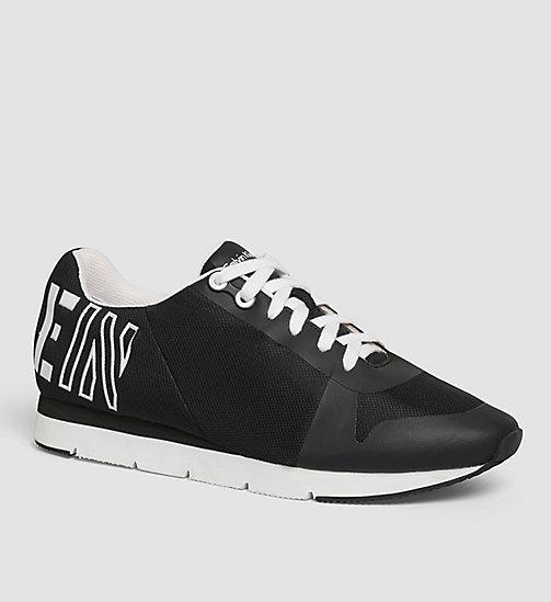 CALVIN KLEIN JEANS Mesh Sneakers - WHITE/BLACK/WHITE -  TRAINERS - main image