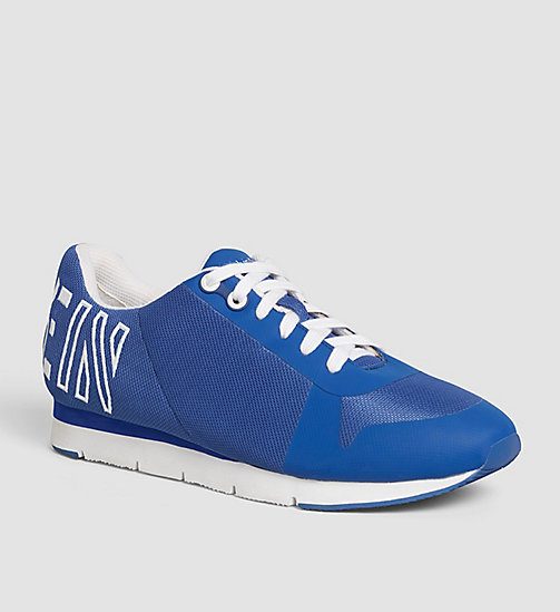 CALVIN KLEIN JEANS Mesh Sneakers - WHITE/COBALT/WHITE - CALVIN KLEIN JEANS SHOES & ACCESSORIES - main image