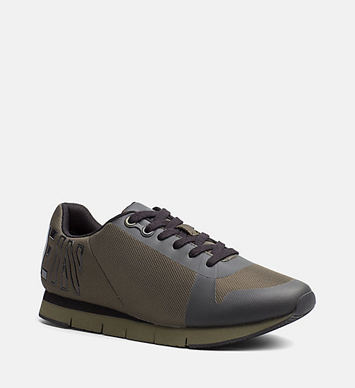 CALVIN KLEIN JEANS Mesh Sneakers - CARGO/BLACK - CALVIN KLEIN JEANS SHOES & ACCESSORIES - main image