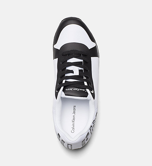 CALVIN KLEIN JEANS Mesh Sneakers - WHITE BLACK - CALVIN KLEIN JEANS SHOES & ACCESSORIES - detail image 1