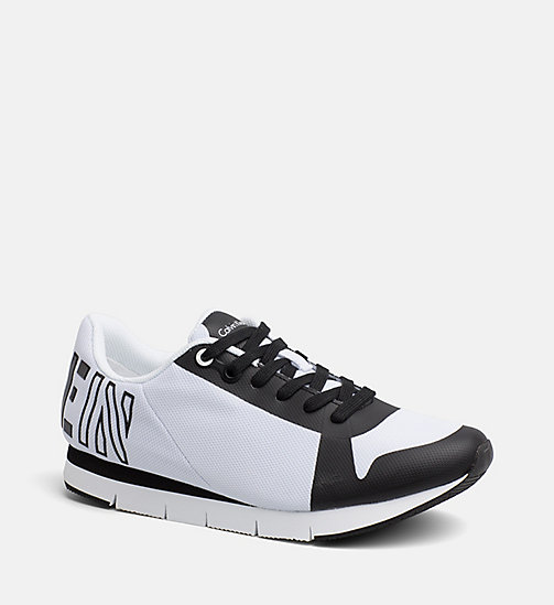 CALVIN KLEIN JEANS Mesh Sneakers - WHITE BLACK - CALVIN KLEIN JEANS SHOES & ACCESSORIES - main image