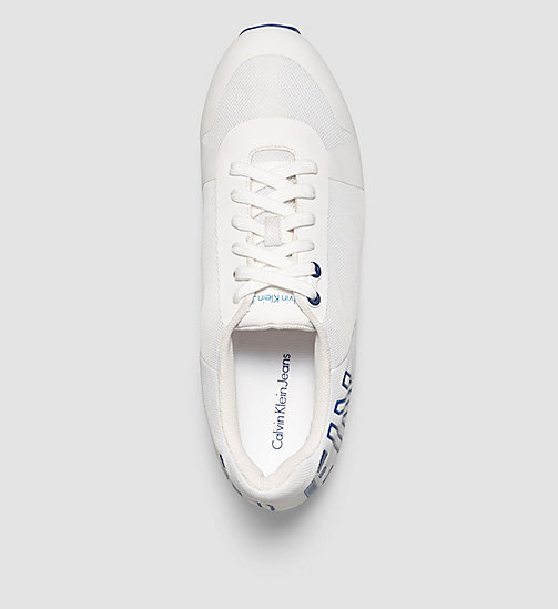 CALVIN KLEIN JEANS Mesh Sneakers - WHITE/WHITE/COBALT - CALVIN KLEIN JEANS TRAINERS - detail image 1