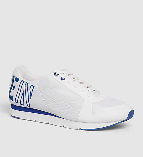 CALVIN KLEIN JEANS Mesh Sneakers - WHITE/WHITE/COBALT - CALVIN KLEIN JEANS TRAINERS - main image