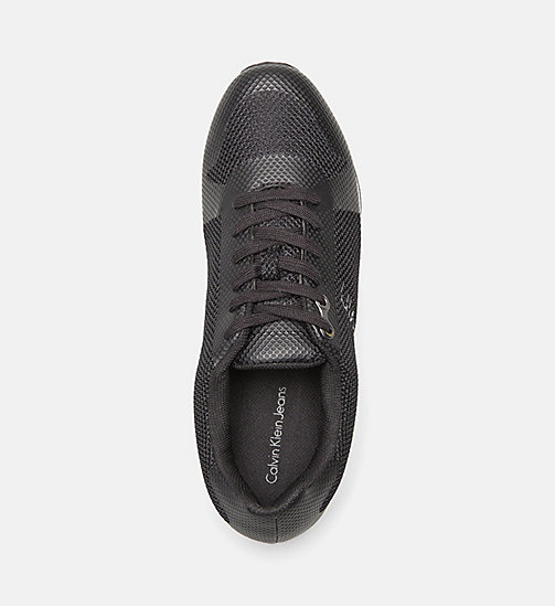 CALVIN KLEIN JEANS Mesh Sneakers - BLACK/BLACK - CALVIN KLEIN JEANS SHOES & ACCESSORIES - detail image 1