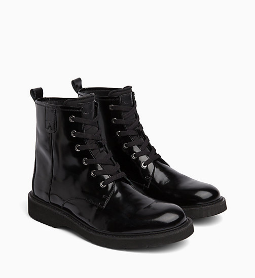 CALVIN KLEIN JEANS Ankle Boots aus Leder - BLACK - CALVIN KLEIN JEANS IN THE THICK OF IT FOR HIM - main image 1