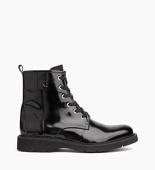 CALVIN KLEIN JEANS Ankle Boots aus Leder - BLACK - CALVIN KLEIN JEANS IN THE THICK OF IT FOR HIM - main image