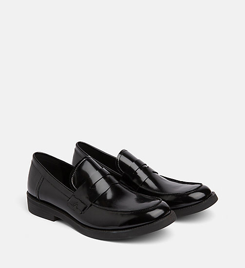 CALVIN KLEIN JEANS Leather Loafers - BLACK - CALVIN KLEIN JEANS CALVIN KLEIN MENSWEAR - detail image 1