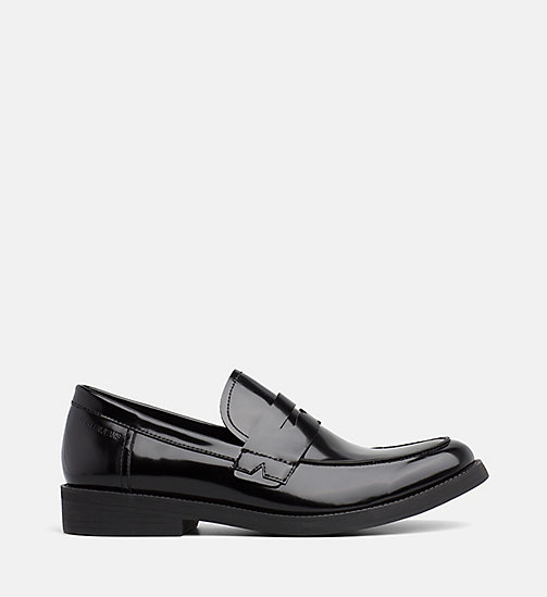 CALVIN KLEIN JEANS Leather Loafers - BLACK - CALVIN KLEIN JEANS INVEST IN COLOUR - main image