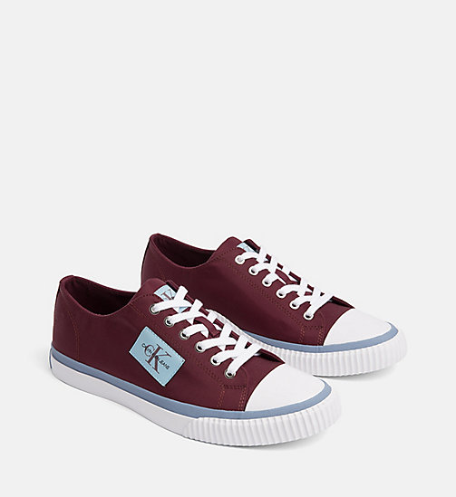 CALVIN KLEIN JEANS Baskets en nylon - DARK BURGUNDY -  The New Off-Duty - image détaillée 1