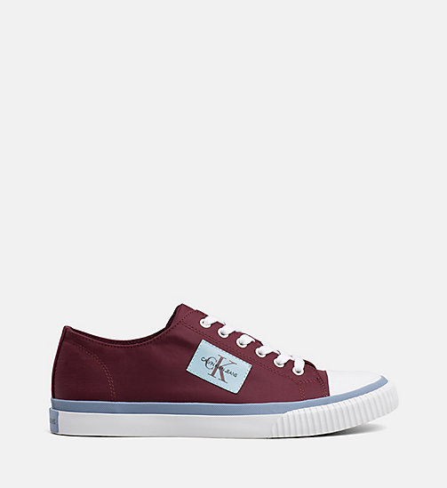 CALVIN KLEIN JEANS Nylon Trainers - DARK BURGUNDY - CALVIN KLEIN JEANS The New Off-Duty - main image