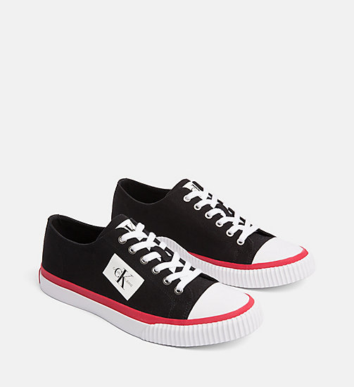 CALVIN KLEIN JEANS Canvas Trainers - BLACK - CALVIN KLEIN JEANS The New Off-Duty - detail image 1