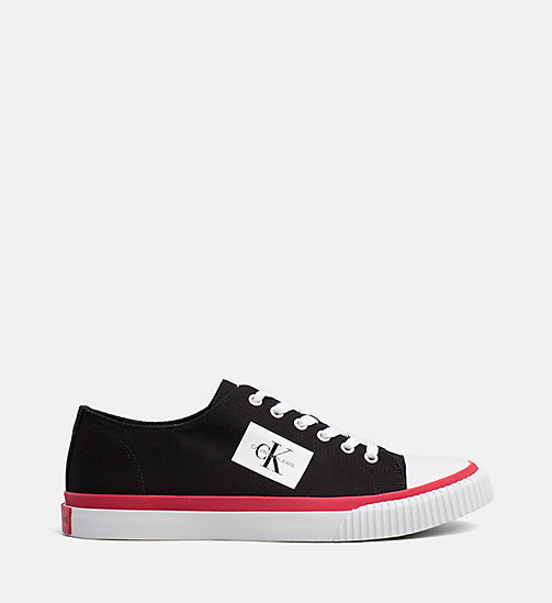 CALVIN KLEIN JEANS Canvas Trainers - BLACK - CALVIN KLEIN JEANS The New Off-Duty - main image