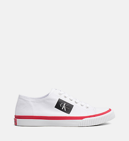 CALVIN KLEIN JEANS Canvas Trainers - WHITE - CALVIN KLEIN JEANS TRAINERS - main image