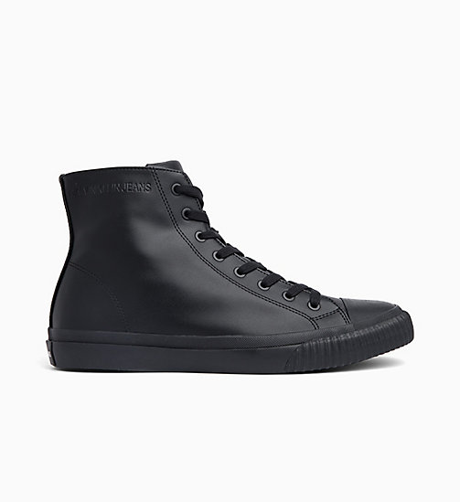CALVIN KLEIN JEANS Leren high-top sneakers - BLACK - CALVIN KLEIN JEANS SNEAKERS - main image